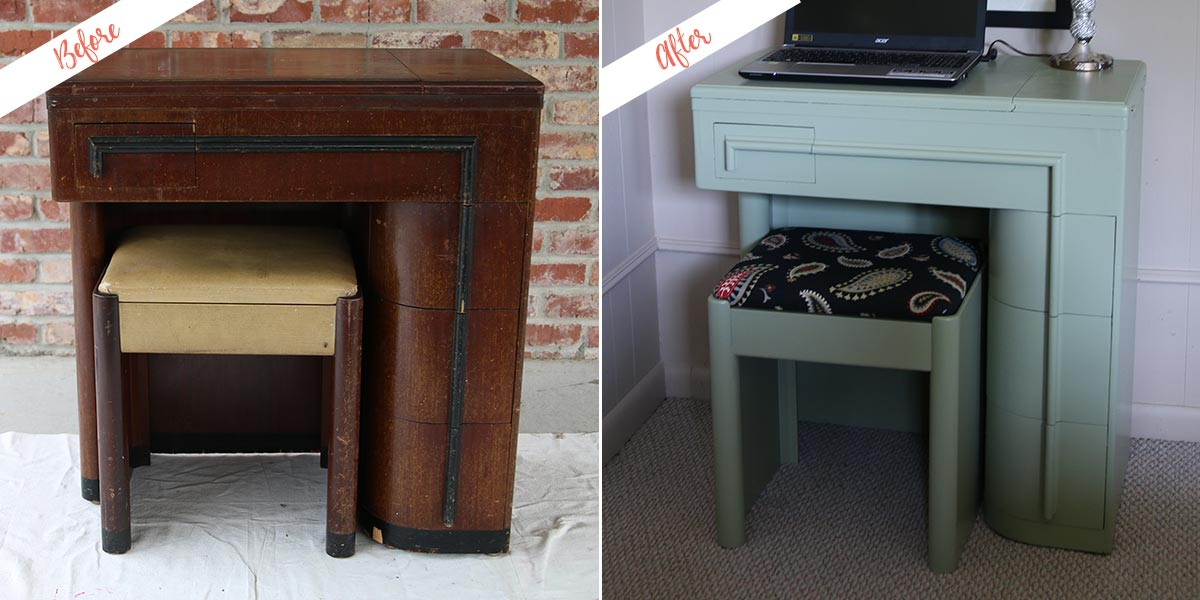 Flea Market Desk, before and after