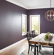 Dining room painted in flat sheen.