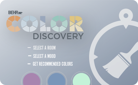 Behr Color Discovery with Three Circles and a paint brush