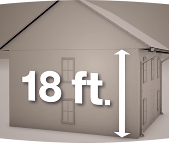 3D drawing of an 18 foot tall home